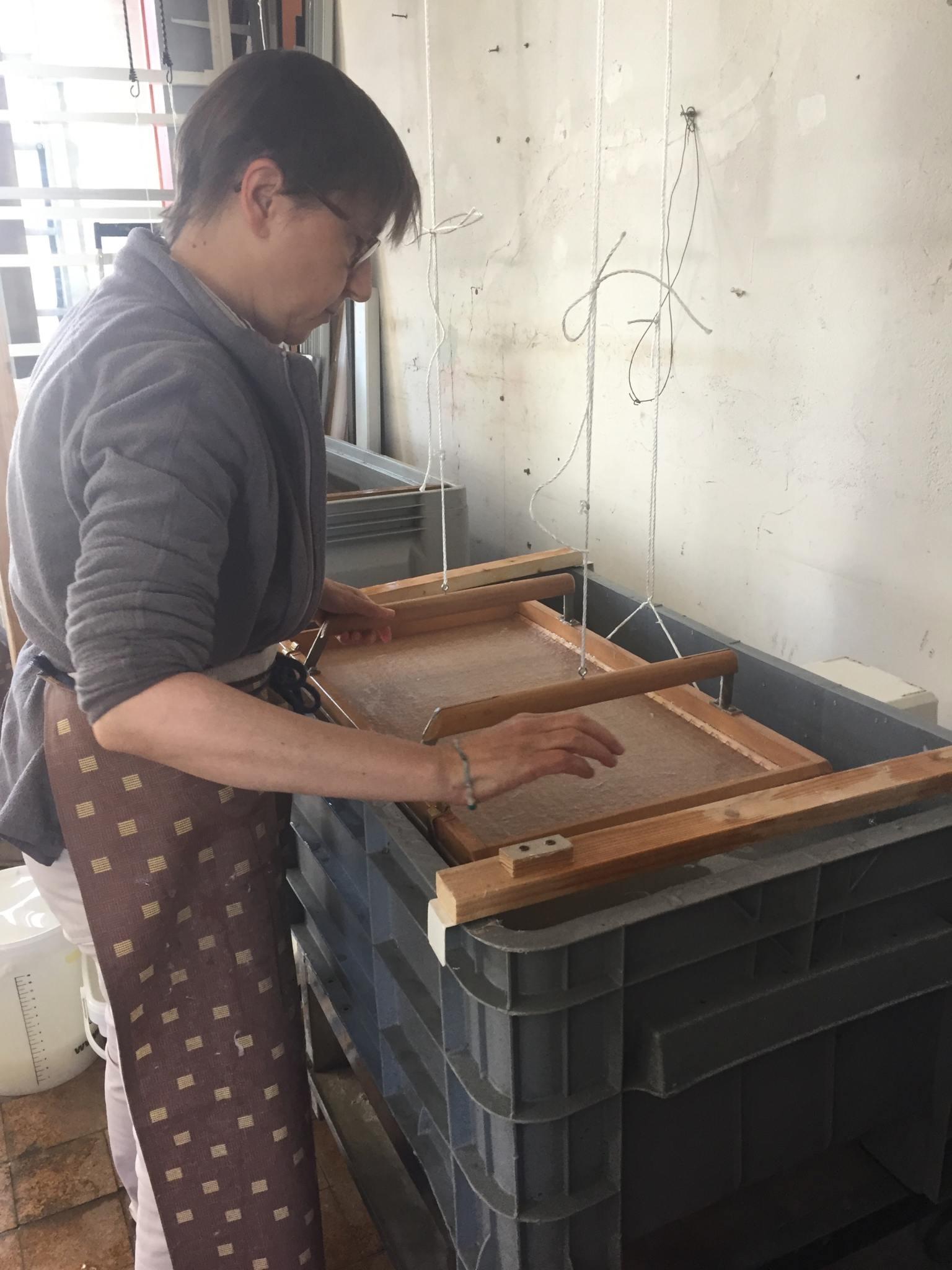 Stage de fabrication de papier Washi